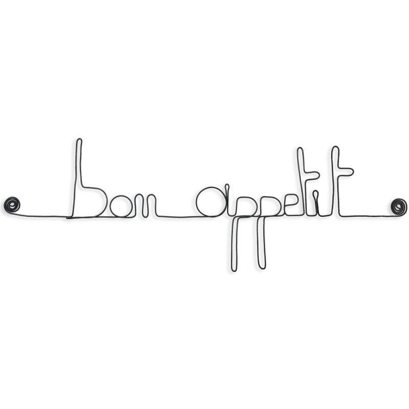 """"""" Bon appétit """" - Message mural décoratif en fil de fer - Bijoux de mur"""