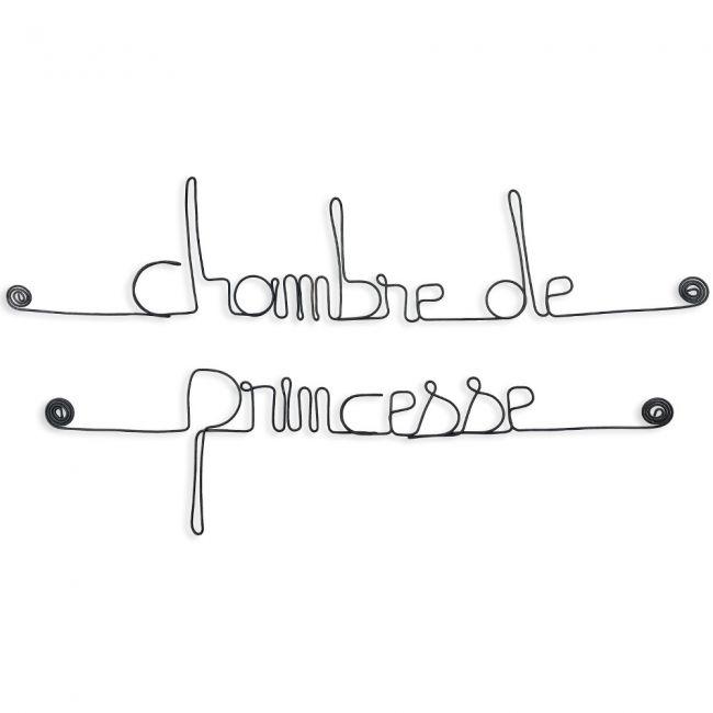 """"""" Chambre de princesse """" - Message mural décoratif en fil de fer - Bijoux"""