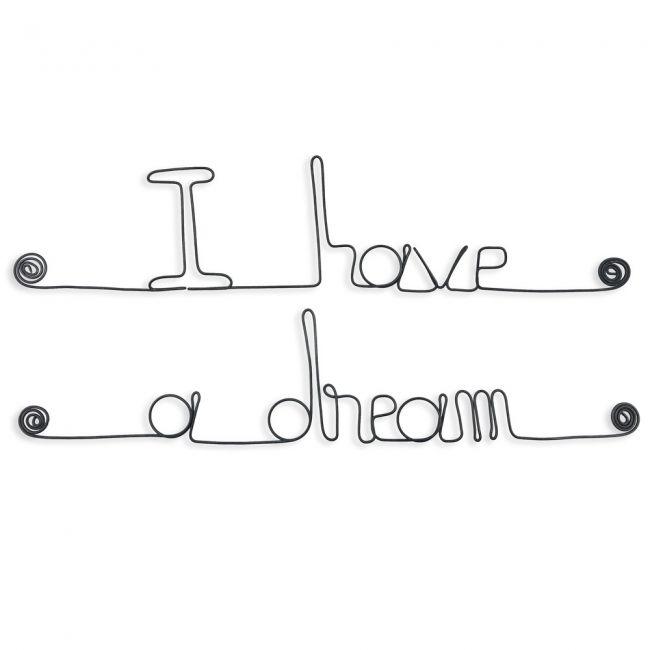 """"""" I have a dream """" - Message mural décoratif en fil de fer - Bijoux de mur"""