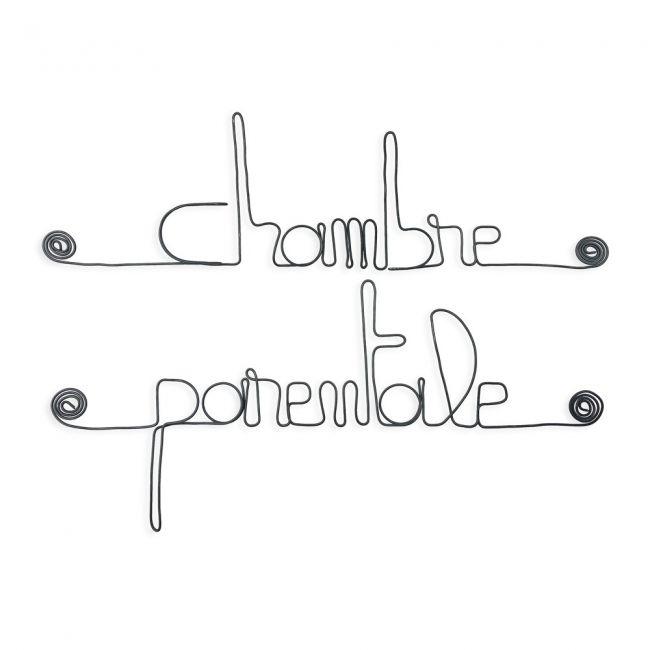 """"""" Chambre parentale """" - Message mural décoratif en fil de fer - Bijoux de mur"""