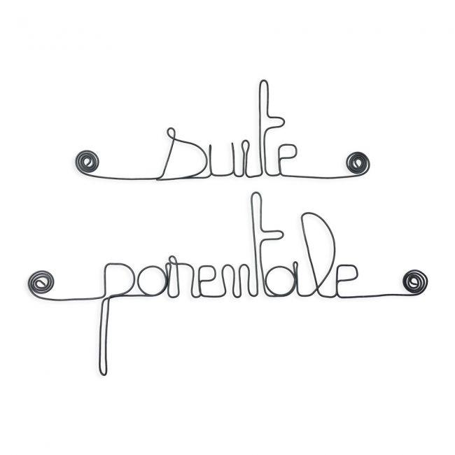 """"""" Suite parentale """" - Message mural décoratif en fil de fer - Bijoux de mur"""
