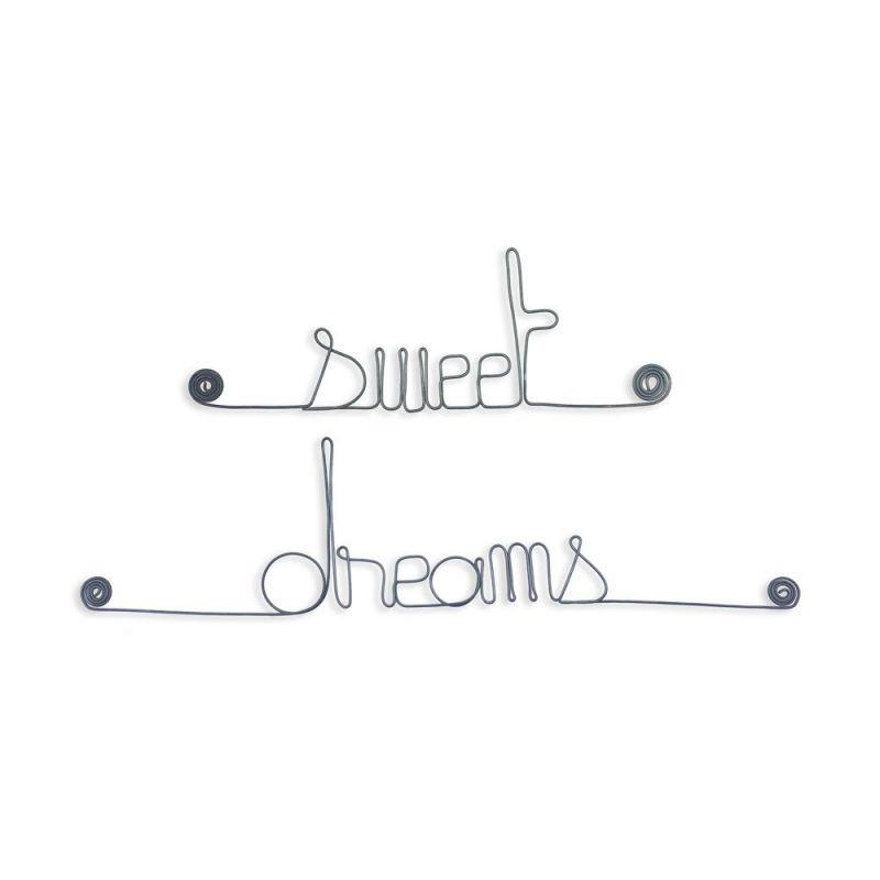 """Message simple en fil de fer """" Sweet dreams """" - à punaiser - Bijoux de mur"""