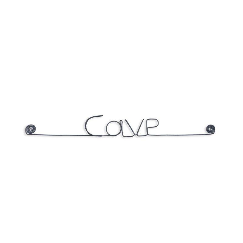 """Message simple en fil de fer """" Cave """" - à punaiser - Bijoux de mur"""