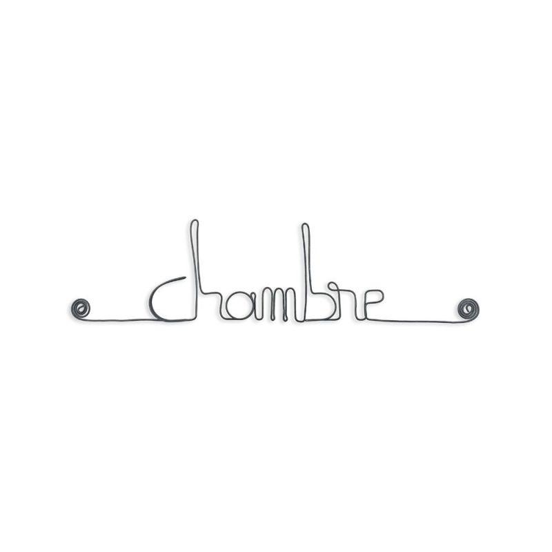 """Message simple en fil de fer """" Chambre """" - à punaiser - Bijoux de mur"""