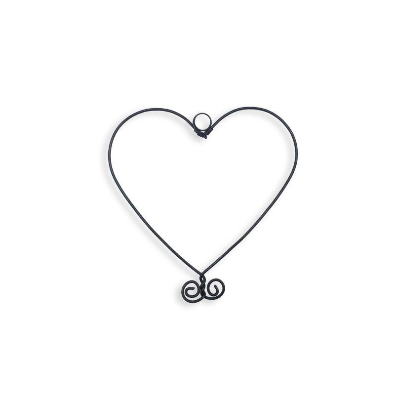 """Forme en fil de fer """" Cœur Petit """" - environ 10 x 10 cm - à punaiser - Bijoux de mur"""