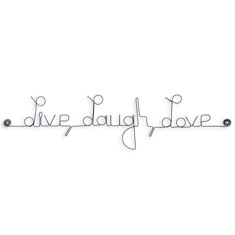 """Message simple en fil de fer """" Live, Laugh, Love """" - à punaiser - Bijoux de mur"""