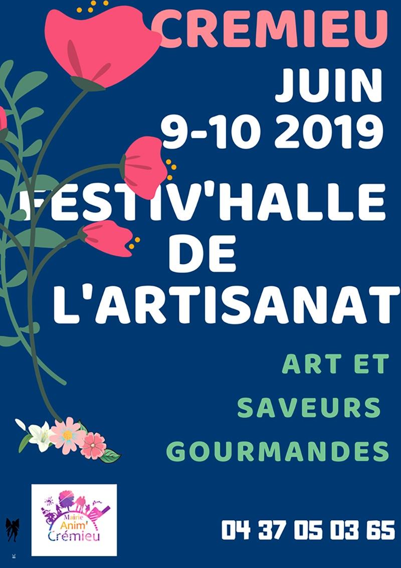 Affiche de la foire artisanale de Crémieu 2019