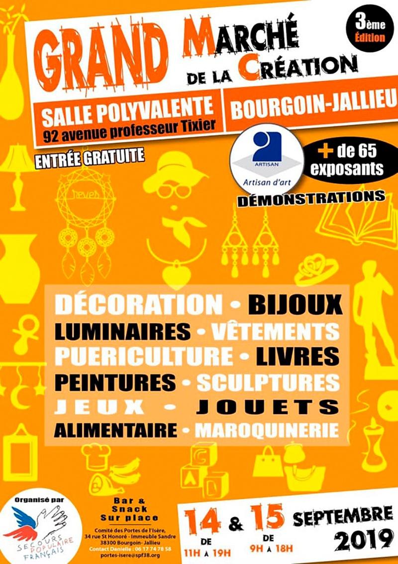 Affiche du Grand marché de la création de Bourgoin-Jallieu en 2019