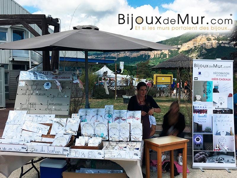 Marché artisanal à la Vallée Bleue en 2019