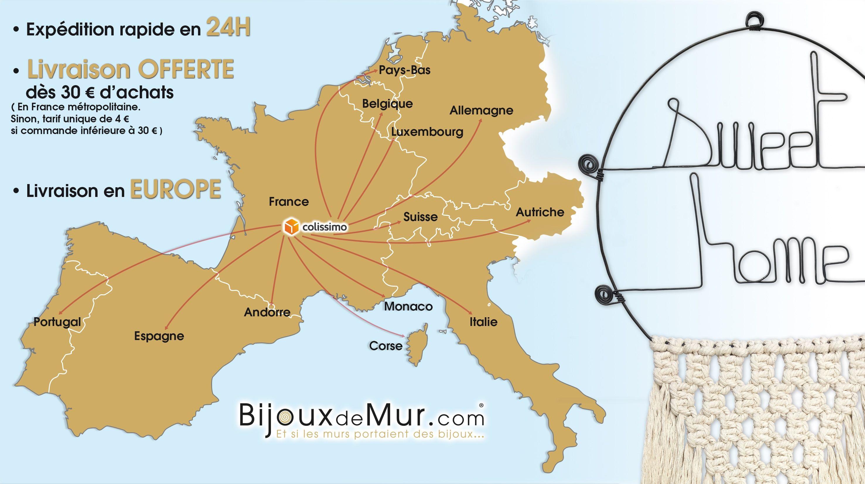Livraison rapide et en Europe